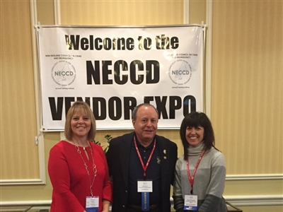 78th NECCD conference, November 2017<br />Pictured (L to R): Susan L. Gagnon (President 78th NECCD, Director for the Maine Department of Corrections) , Julio Perez (Executive Asst. Director, OWI)  Michele Naismith (Incoming President for 79th NECCD 2